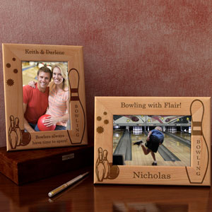 Bowling Wooden Picture Frame