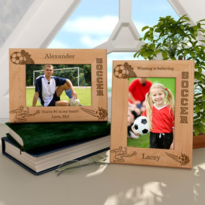 Soccer Wooden Picture Frame