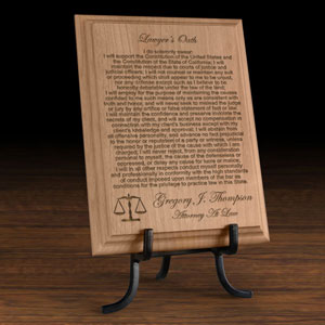 Lawyer's Oath Wooden Plaque