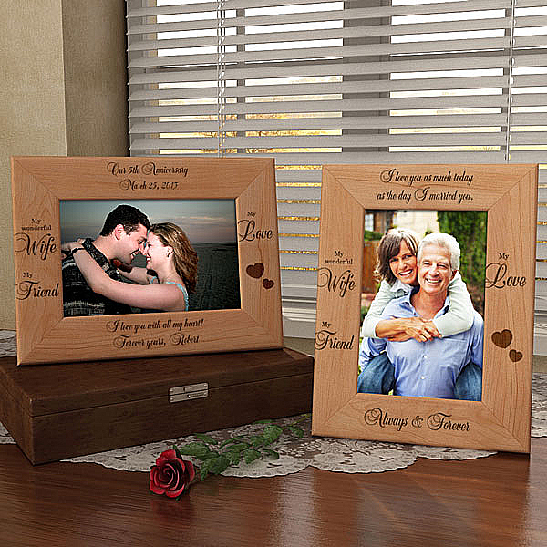 My Wife, My Friend Wooden Picture Frame