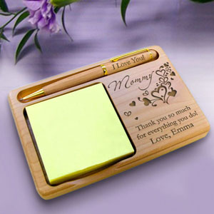 Outpouring of Love Wooden Notepad & Pen Holder