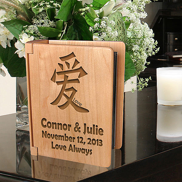 Chinese Symbol Wooden Photo Album