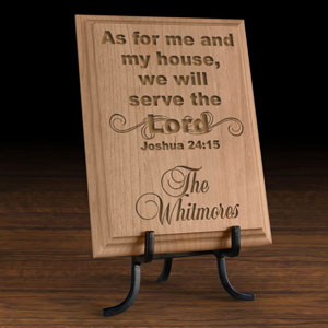 Serve the Lord Wooden Plaque