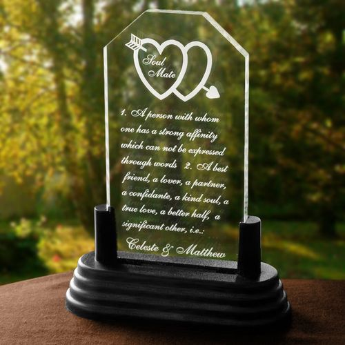 Personalized Soul Mates Definition Keepsake