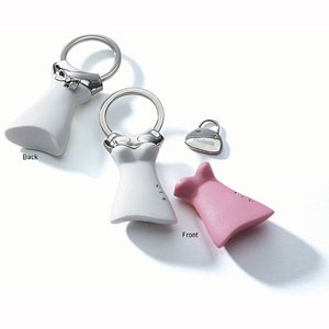 Dress Key Chain with Purse Charm