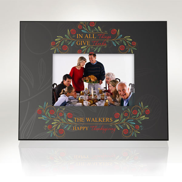 In All Things Give Thanks Picture Frame