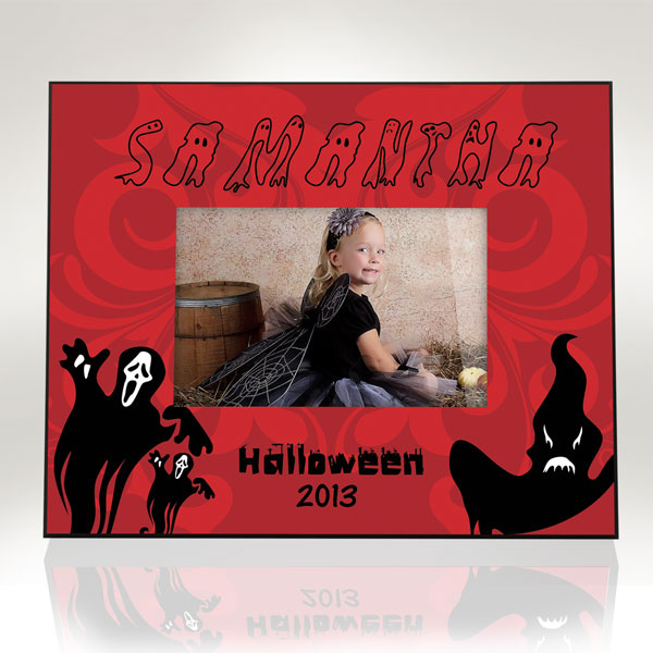Ghostly Halloween Picture Frame
