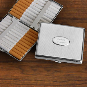 Executive Oval Front Cigarette Case