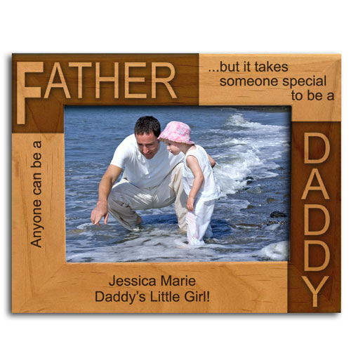 Personalized Father Daddy Wooden Picture Frame
