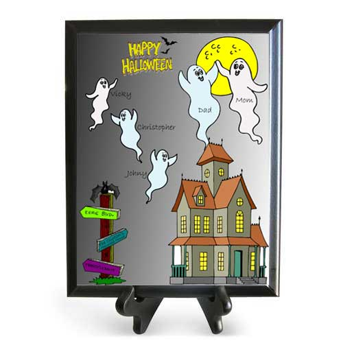 Haunted House Wooden Plaque