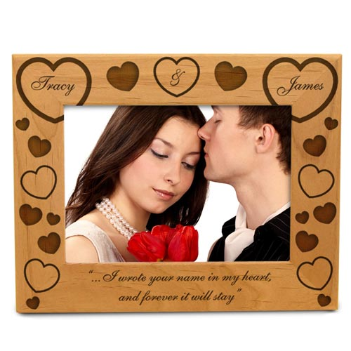 Both Our Hearts Wooden Picture Frame