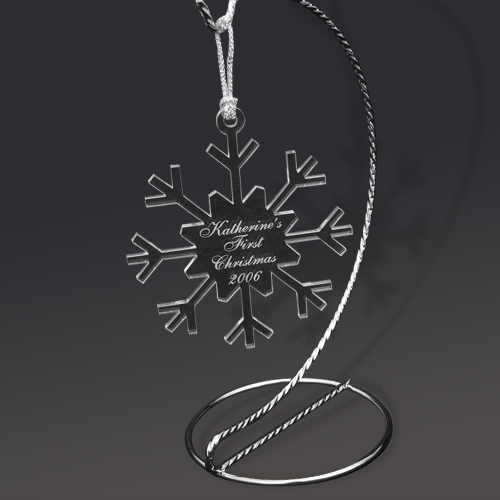 Snowflake Ornament Gift Idea