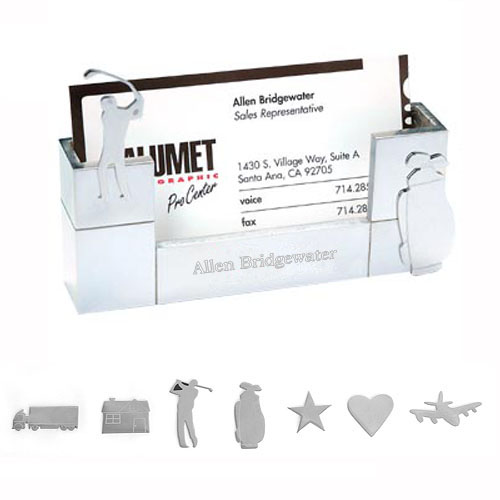 Magnetic Silver Plated Business Card Holder
