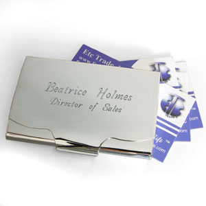Silver Plated Business Card Holder