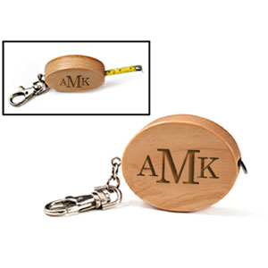 Wood Tape Measure Key Chain