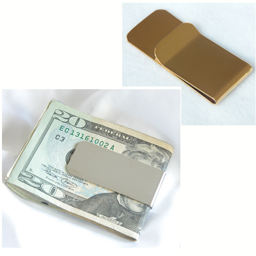 Silver Plated or Gold Plated Money Clip