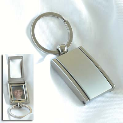 Satin Key Chain with Mirror & Picture Frame