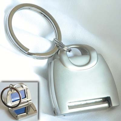 Purse Key Chain with Mirror & Picture Frame