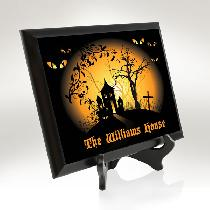 Haunted House Plaque